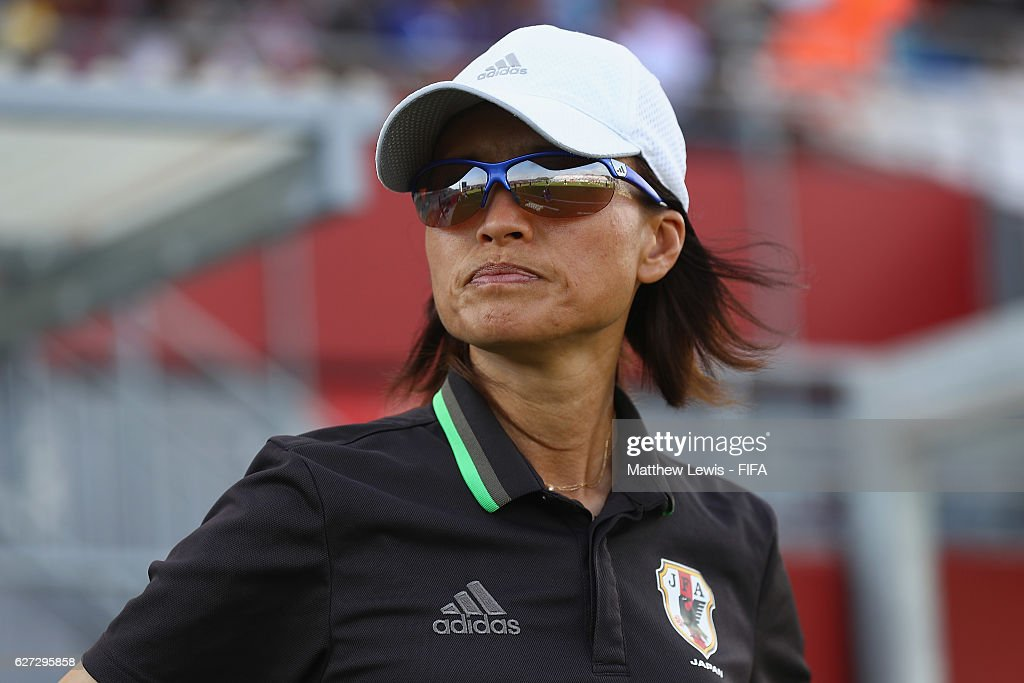 Asako Takakura, Head Coach of Japan looks on during the FIFA U-20 Women's World Cup Papua New Guinea 2016 Third Place Play Off match between USA and Japan at the National Football Stadium on December 3, 2016 in Port Moresby, Papua New Guinea.
