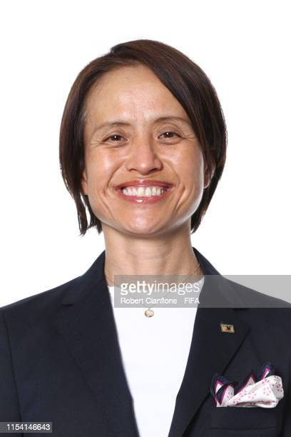Asako Takakura, head coach of Japan poses for a portrait during the official FIFA Women's World Cup 2019 portrait session at Hotel Barriere L'Hotel...
