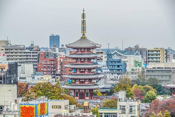 浅草地区、有名な浅草寺-東京