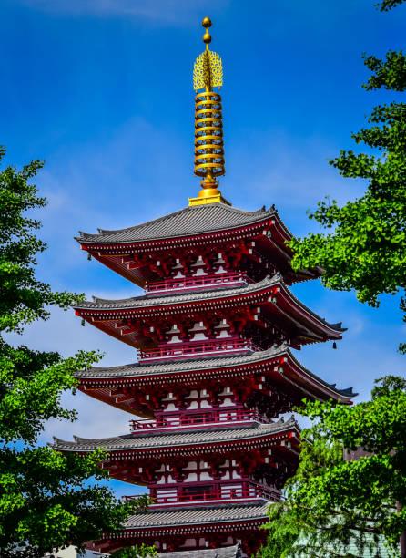 Asakusa Sens-ji Sensoji Pagoda - Tokyo Japan
