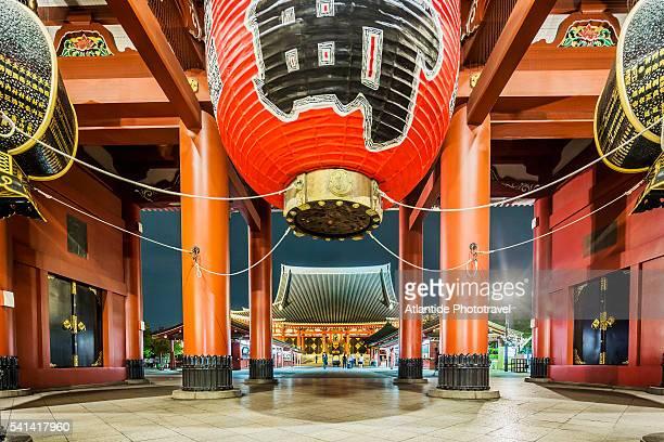 Asakusa, Senso-Ji (Senso Temple), the Hozo-mon Gate, on the background the Hondo (Main Hall)