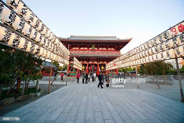 asakusa temple - temple building stock pictures, royalty-free photos & images