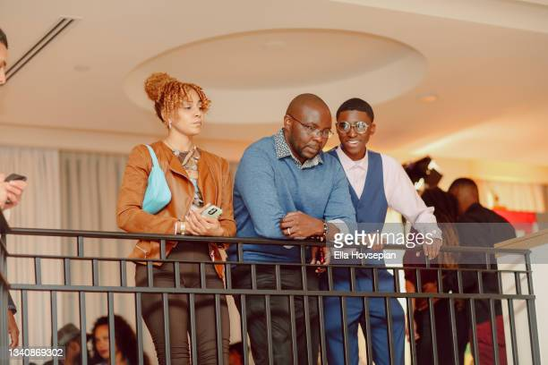 Asali, Joab Odeni and Denim Steele attend The One And Only, Dick Gregory, Album Release Event on September 16, 2021 in Burbank, California.