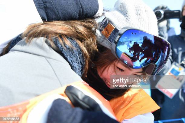 Asami Hirono of Japan is seen after the Snowboard Ladies' Slopestyle Final on day three of the PyeongChang 2018 Winter Olympic Games at Phoenix Snow...