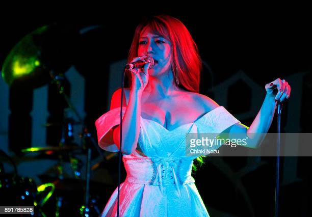 Asami of Lovebites performs live on stage at Underworld on November 27 2017 in London England