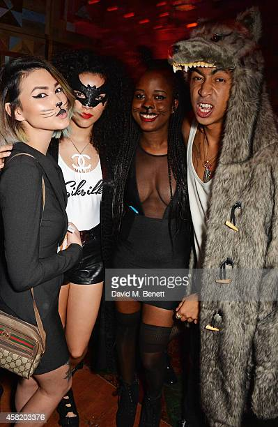 Asami Zdrenka Shereen Cutkelvin guest and Jordan Stephens attend 'Death Of A Geisha' hosted by Fran Cutler and Cafe KaiZen with Grey Goose on October...