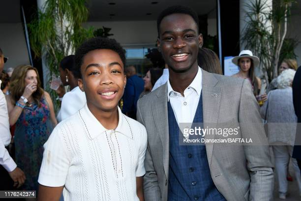 Asante Blackk and Ethan Herisse attend the BAFTA Los Angeles BBC America TV Tea Party 2019 at The Beverly Hilton Hotel on September 21 2019 in...