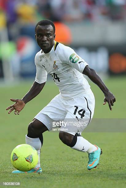 Asante Solomon of Gana in action during the 2013 Africa Cup of Nations QuarterFinal match between Ghana and Cape Verde at the Nelson Mandela Bay...