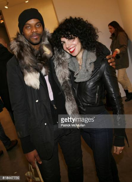 aSANTI aUSTIN and Deborah Altizio attend ERWIN OLAF Opening Reception at Hasted Hunt Kraeutler on January 28 2010 in New York