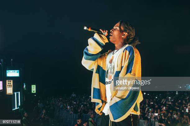 Asap Rocky performs on stage on Day 1 of Parklife festival at Heaton Park on June 9 2018 in Manchester England