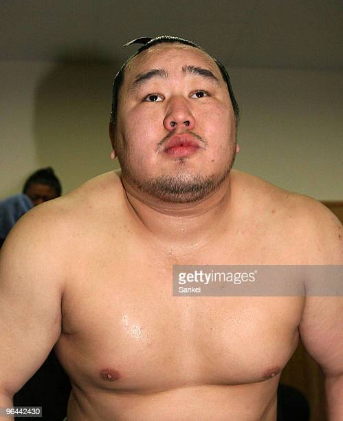 Asashoryu is seen in the dressing room on the day ten of the Grand Sumo Kyushu Tournament at Fukuoka Convention Center at November 24 2009 in Fukuoka...