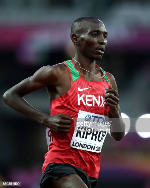 Asbel Kiprop of Kenya competes in the Men's 1500 metres semi finals during day eight of the 16th IAAF World Athletics Championships London 2017 at...