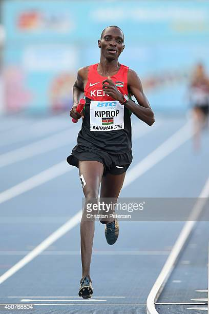 Asbel Kiprop of Kenya competes in the Men's 4x1500 metres relay final during day two of the IAAF World Relays at the Thomas Robinson Stadium on May...