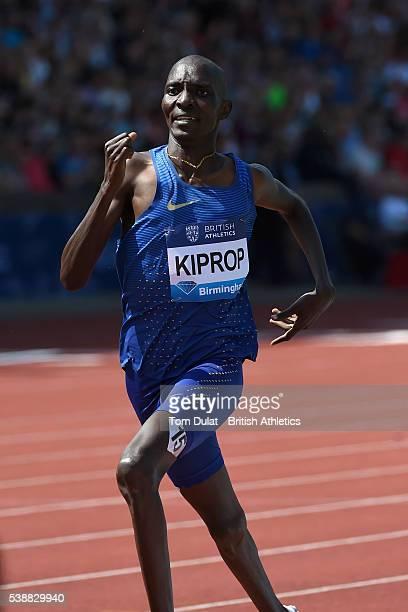 Asbel Kiprop of Kenya in action in the Men's 1500m during the Birmingham Diamond League at Alexander Stadium on June 5, 2016 in Birmingham, England. .