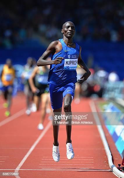 Asbel Kiprop of Kenya wins the Men's 1500m during the Birmingham Diamond League at Alexander Stadium on June 5, 2016 in Birmingham, England.