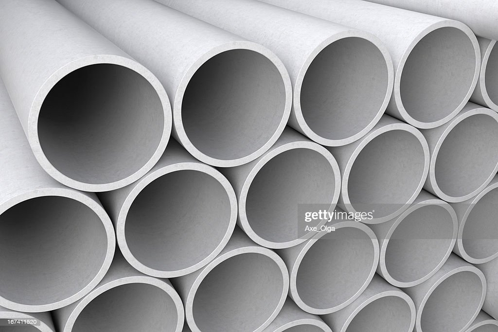 Asbestos cement pipes. : Bildbanksbilder