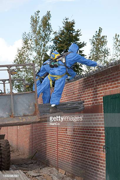 Asbestos removal in progress