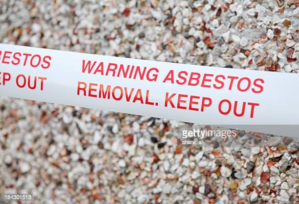 asbestos warning tape - asbestos stock pictures, royalty-free photos & images