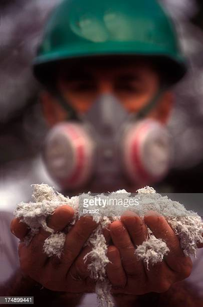asbestos worker - gas mask stock pictures, royalty-free photos & images