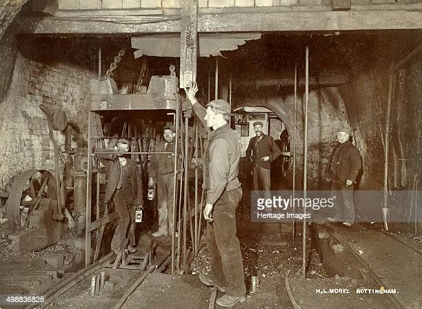 Ascending in the pit cage Clifton Colliery Nottinghamshire c1895 Clifton pits were originally owned by Clifton Colliery Co Nottingham Opened in 1871...