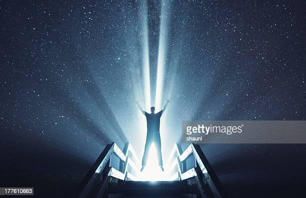 ascending into the stars - spotlit stock pictures, royalty-free photos & images