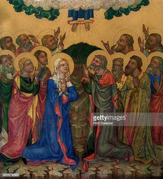 'Ascension' c1350 Tempera on wood Found in the collection of the National Gallery Prague A print from Gothic Painting in Bohemia 13501450 by Antonin...