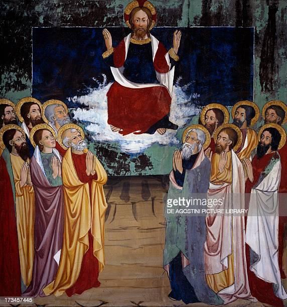 Ascension Life of Christ frescoes Chapel of St Sebastian VillarddeLans RhoneAlpes France