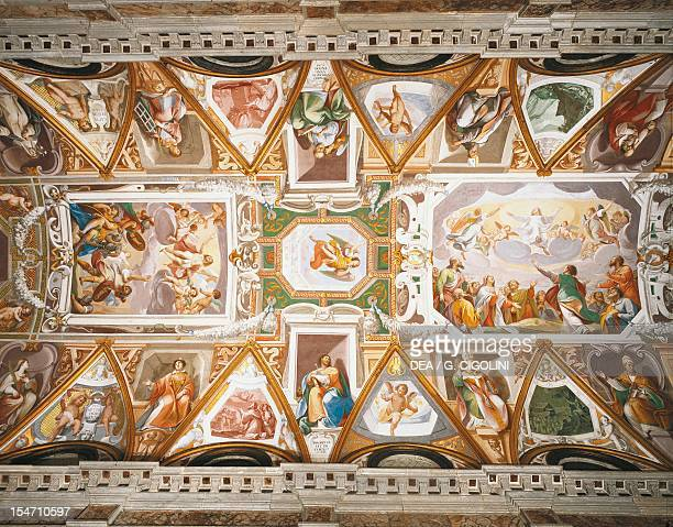 Ascension of Christ and the Assumption of the Virgin, figures of saints, angels and small biblical scenes on the sides. Vaults painted in 1660 by...