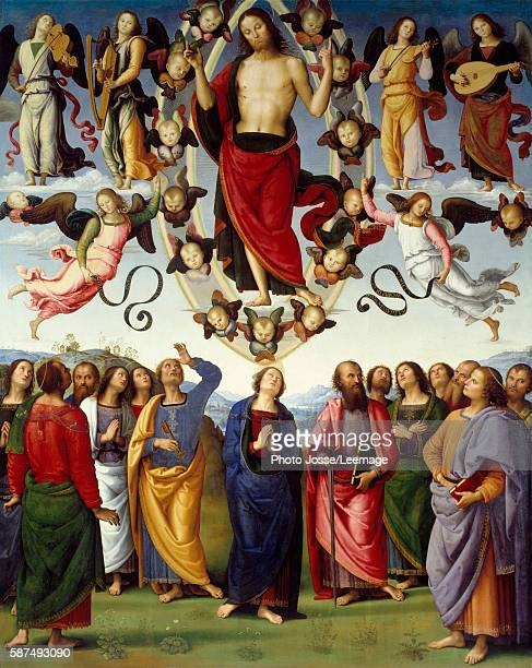 Ascension of Christ Painting by Pietro Vannucci called Il Perugino 1496 325 x 265 m BeauxArts Museum Lyon France