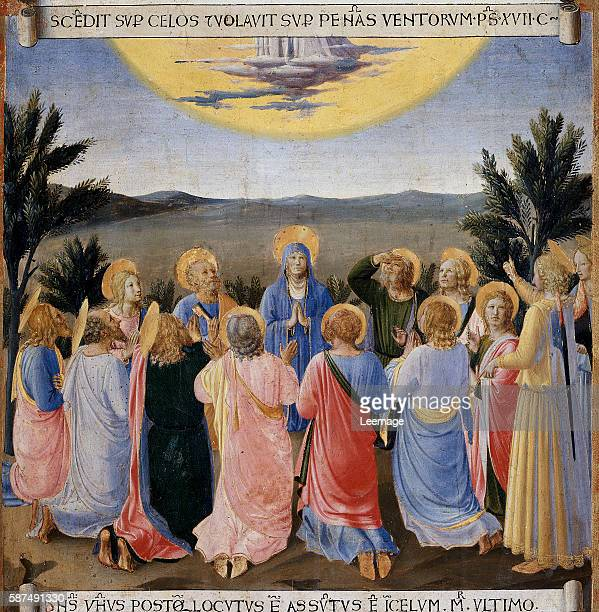 Ascension of Jesus Christ from the Armadio degli Argenti Painting Series by Fra Angelico - Tempera on wood panel - Creation date: ca. 1450 - Located...