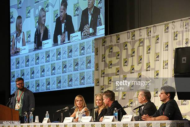 DIEGO 'Ascension Press Room/Panel' Pictured Sam Thielman Tricia Helfer Andrea Roth Brian Van Holt Al Sapienza and Executive Producer Philip Levens