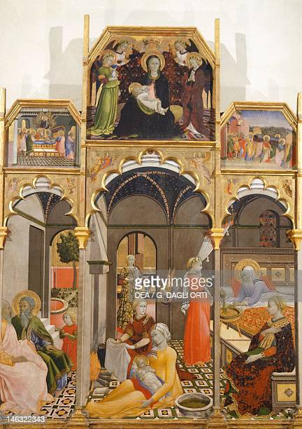 Asciano Museo D'Arte Sacra Palazzo Corboli Birth of the Virgin by the Master of the Observance