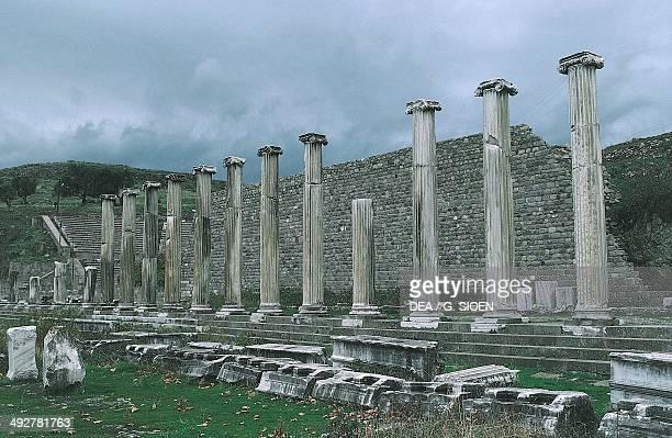 Asclepieion, ruins of the acropolis of ancient Pergamum, near Bergama , Turkey. Roman civilisation, 2nd century AD.
