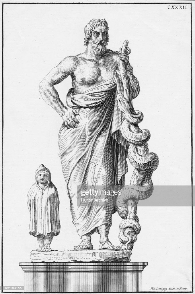 Asclepius or Aesculapius, the ancient Greek god of medicine
