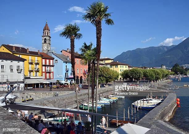 ascona, lago maggiore - ascona stock pictures, royalty-free photos & images