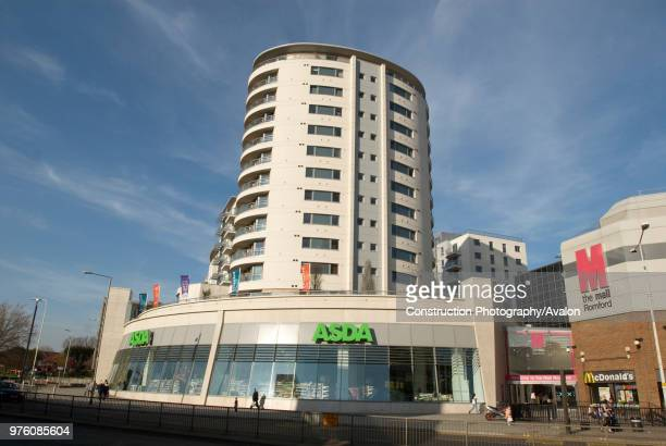 Asda store and housing developments Romford UK