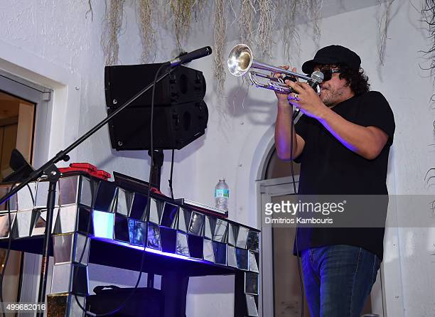 ec0a0dcf7ca9 Asdru Sierra of Abstrakto performs at Chrome Hearts Celebrates Art Basel  With Laduree Sean Kelly And