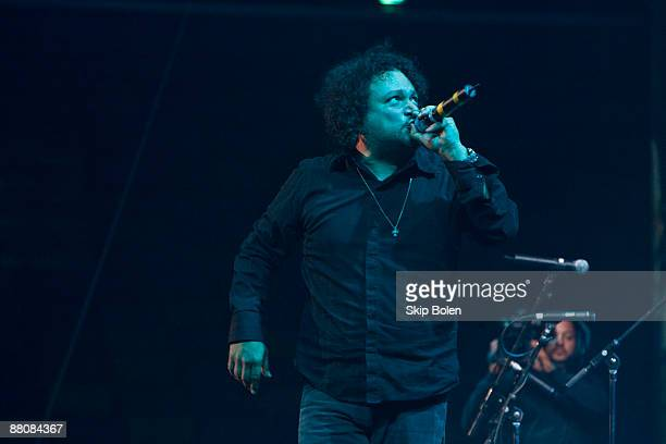 Asdru Sierra of Ozomatli performs during the Domino Effect benefit concert at the New Orleans Arena on May 30 2009 in New Orleans Louisiana