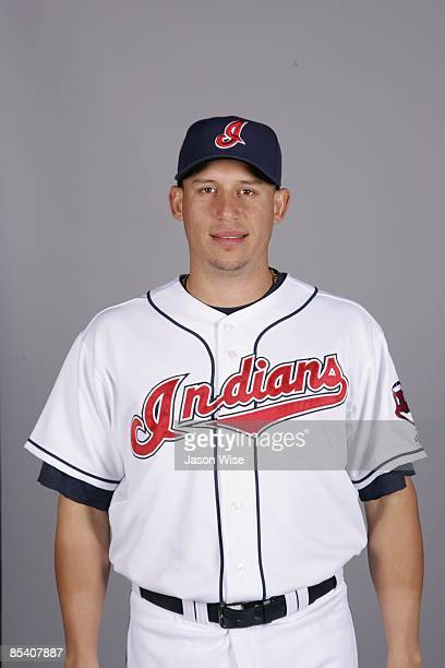 Asdrubal Cabrera of the Cleveland Indians poses during Photo Day on Saturday February 21 2009 at Goodyear Ballpark in Goodyear Arizona