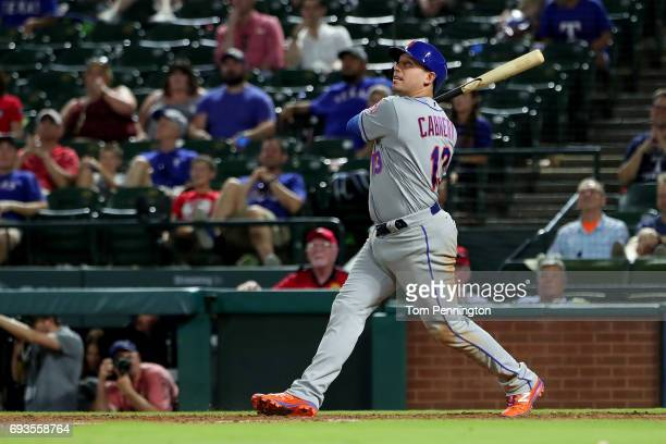 Asdrubal Cabrera of the New York Mets at bat against the Texas Rangers in the top of the ninth inning at Globe Life Park in Arlington on June 6 2017...