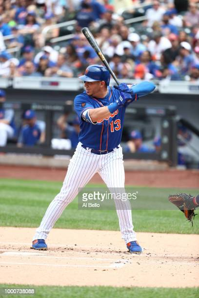 Asdrubal Cabrera of the New York Mets bats against the Washington Nationals during their game at Citi Field on July 15 2018 in New York City