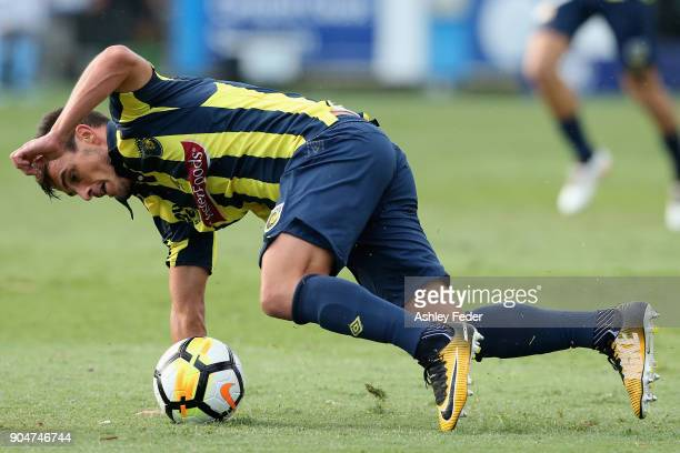 Asdrubal of the Mariners during the round 16 ALeague match between the Central Coast Mariners and Melbourne City at Central Coast Stadium on January...