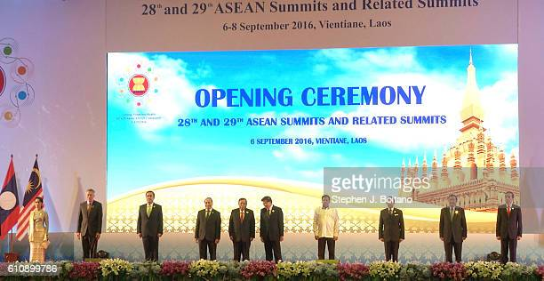 Asean leaders attend the opening ceremonies at the Association of Southeast Asian Nations summit the Laotian capital Vientiane