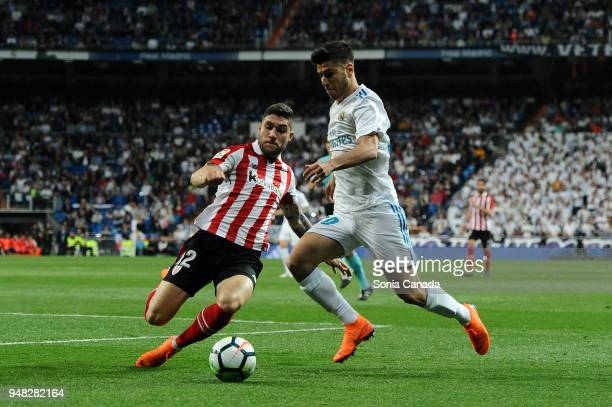 Asensio #20 of Real Madrid during the La Liga match between Real Madrid and Athletic Club at Santiago Bernabeu on April 18 2018 in Madrid Spain