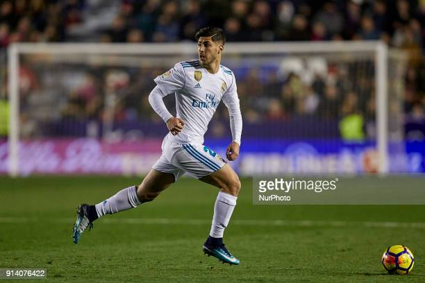 Asensio of Real Madrid CF with the ball during the La Liga game between Levante UD and Real Madrid CF at Ciutat de Valencia on February 3 2018 in...