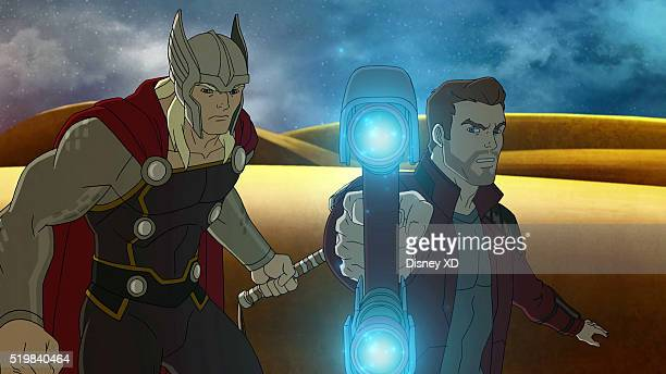 S GUARDIANS OF THE GALAXY Asgard War Part One Lightnin' Strikes When Asgard attacks Spartax Quill and the Guardians become caught in the middle...