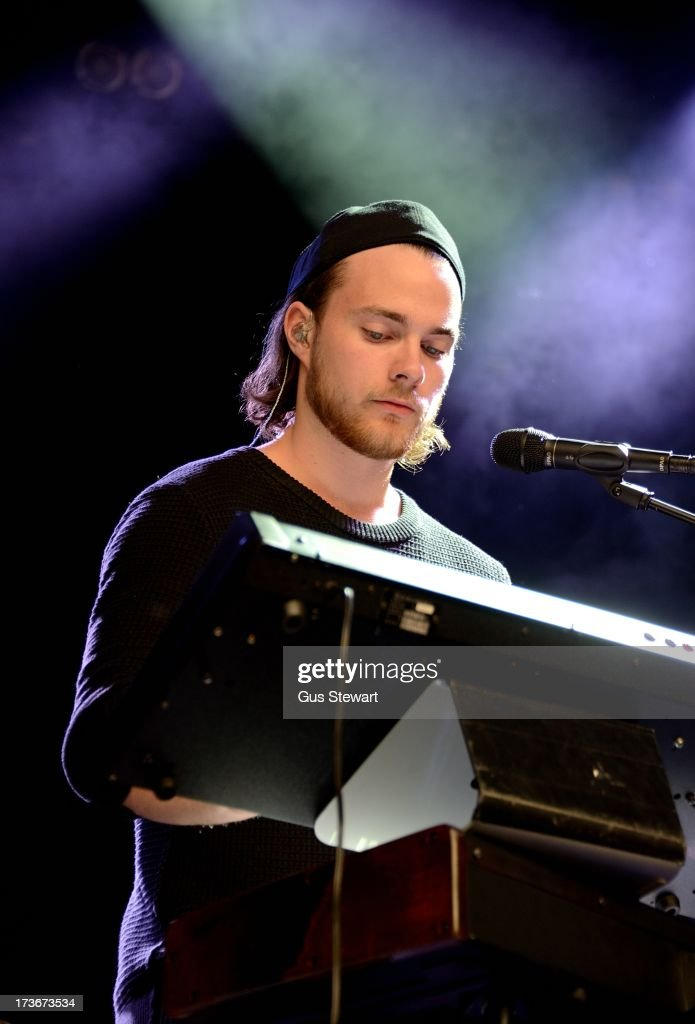Asgeir Trausti performs on stage as part of the annual Summer Series of open-air concerts at Somerset House on July 16, 2013 in London, England.