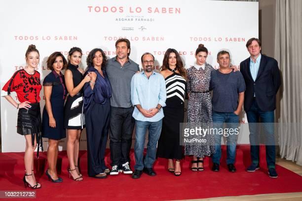 Asghar Farhadi and Penelope Spanish actress Carla Campra Spanish actress Inma Cuesta Spanish actress Sara Salamo Spanish actress Elvira Minguez...