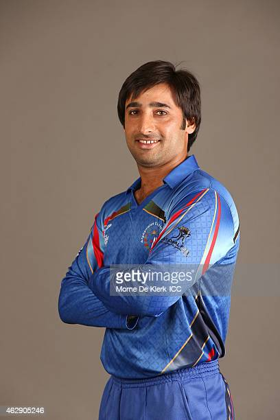 Asghar Stanikzai poses during the Afghanistan 2015 ICC Cricket World Cup Headshots Session at the Intercontinental on February 7 2015 in Adelaide...