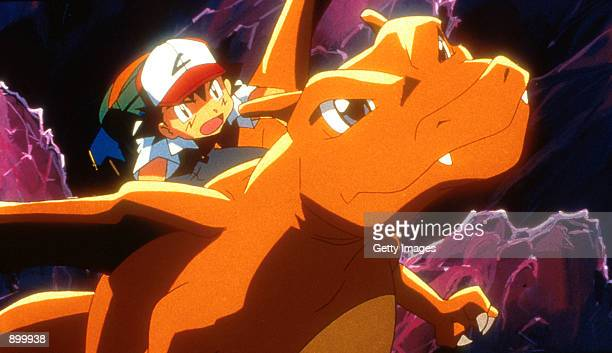 Ash and Charizard in 4Kids Entertainment's animated adventure Pokemon3 distributed by Warner Bros Pictures